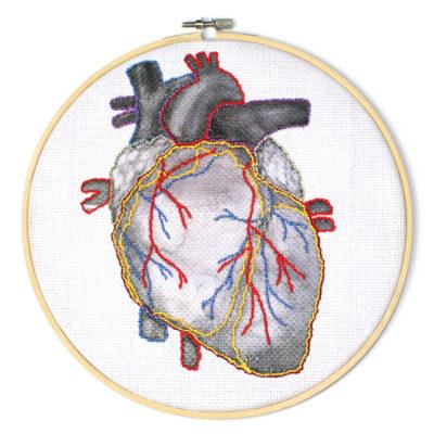 Geborduurd hart